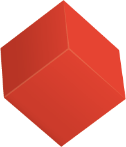 A floating red cube