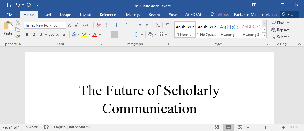 Future of Scholarly Communication logo