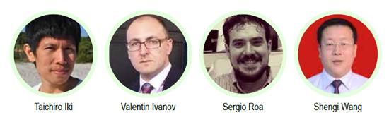 Taichiro Iki (Japan), Valentin Ivanov (Belarus), Sergio Roa (Spain) and Shenqi Wang (China)