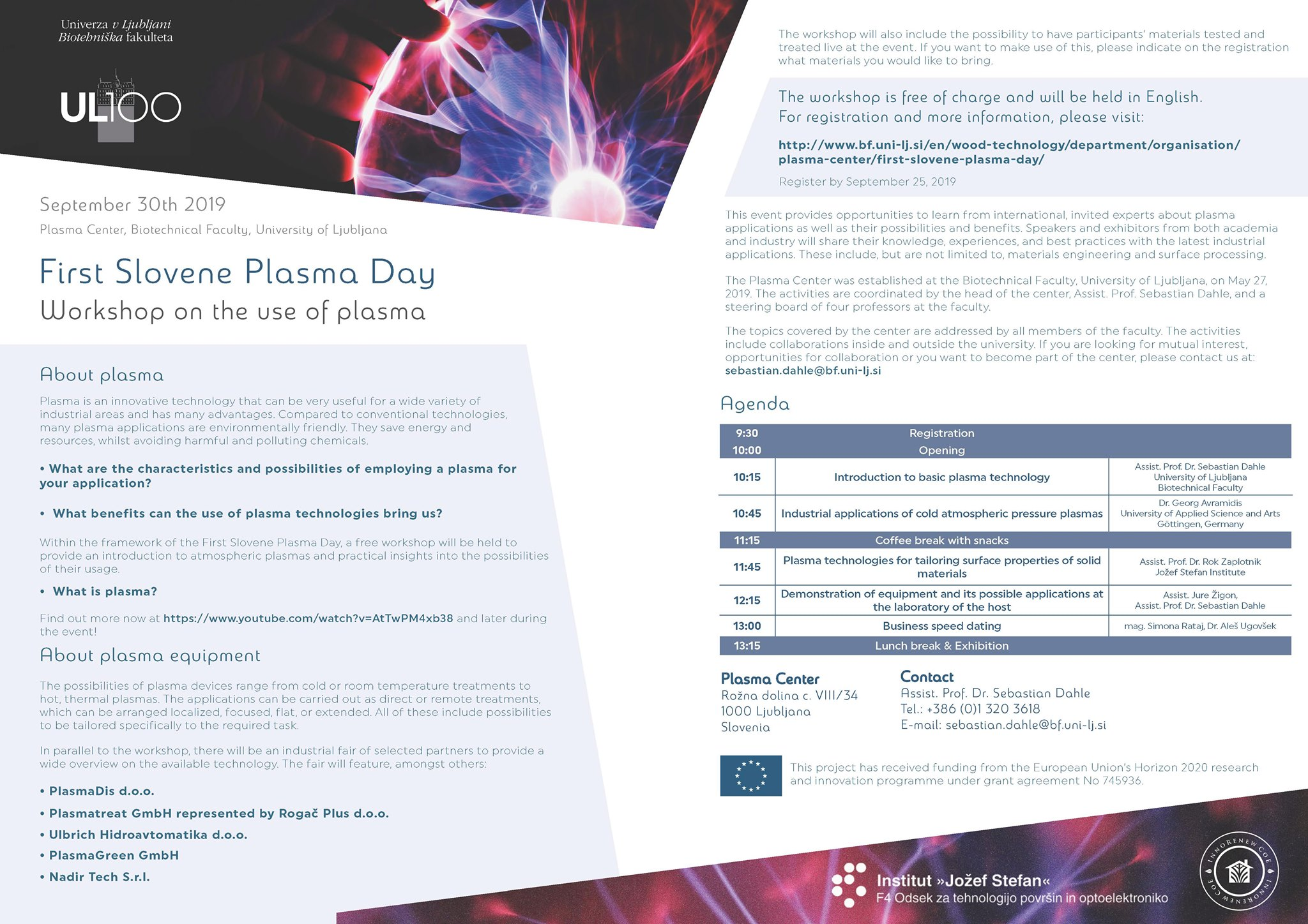 Plasma Day flyer