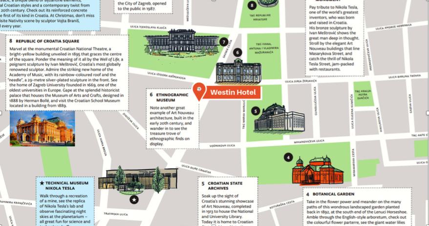 Walking Zagreb map